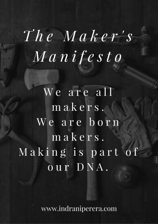 The Maker's Mainfesto