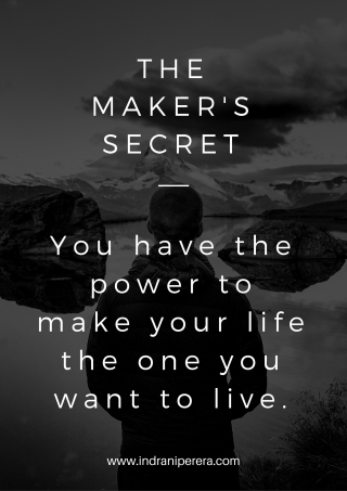 The Maker's Secret Poster