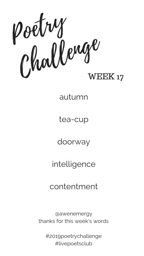 Poetry Challenge 2019 - Week 17 Words