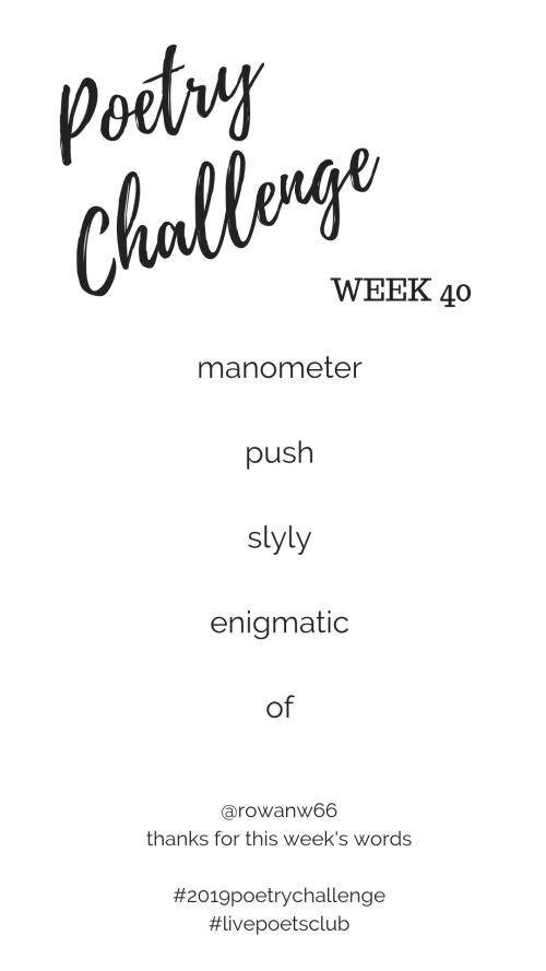 Poetry Challenge 2019 - Week 40 Words