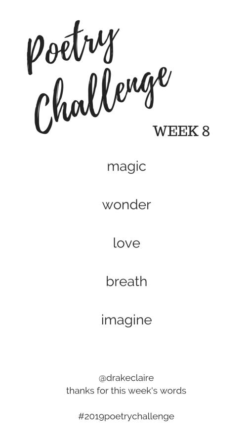 2019 Poetry Challenge Week 8 Words
