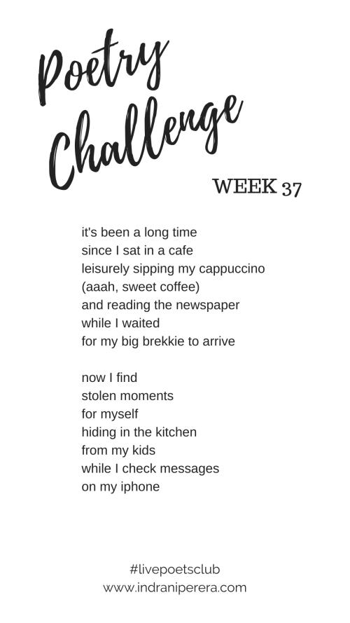 Poetry Challenge 2019 - Week 37 Poem