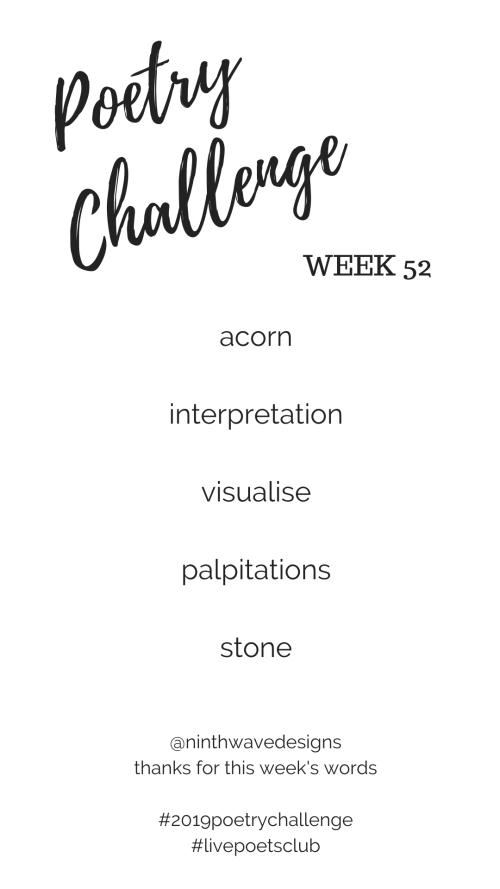 Poetry Challenge 2019 - Week 52 Words
