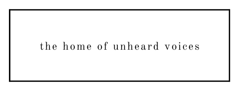 PA Blog - Home Page image - The Home Of Unheard Voices (black on white w border)