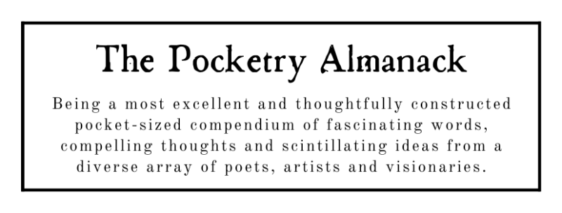 Pocketry Almanack  Facebook Cover (Black On White)